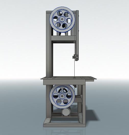 Пила ленточная 3D-модель Iges step компас 4
