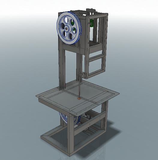 Пила ленточная 3D-модель Iges step компас