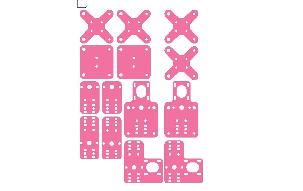 детали для резки на чпу DXF