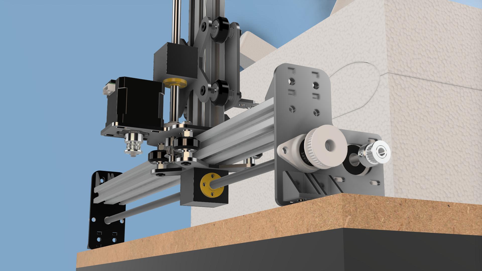 Станок с ЧПУ для резки пенопласта и поролона 3D-модель чертежи