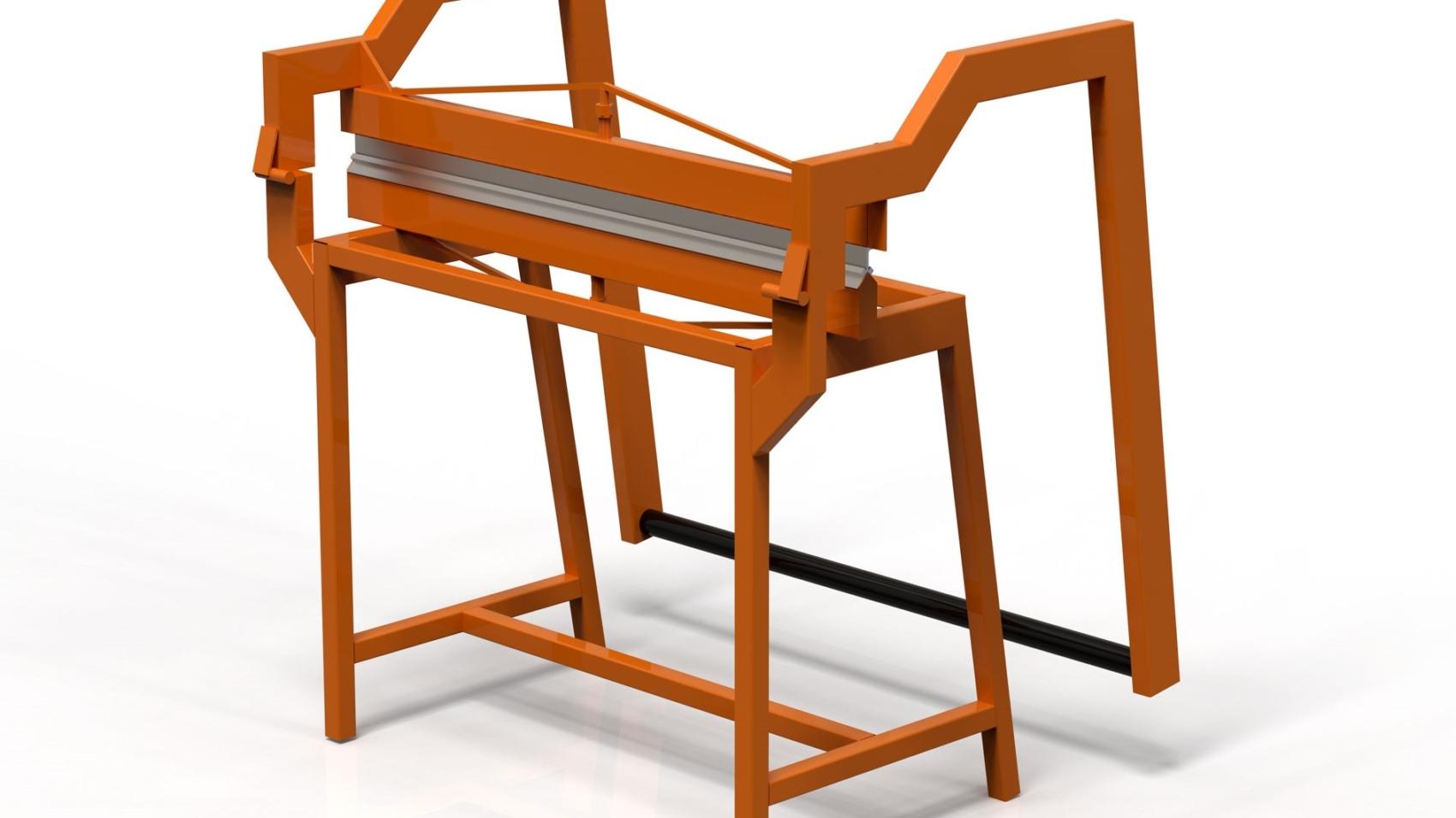 Листогиб прессовый ручной 3D-модель чертежи