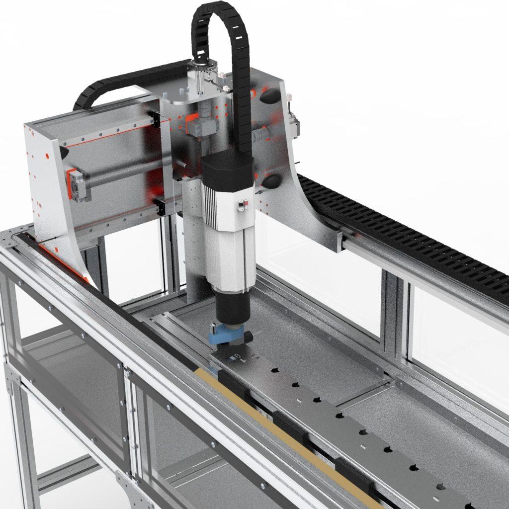 фрезер станок с ЧПУ 3D-модель