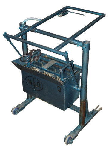 Шлакоблочный вибропресс В01 чертежи 3D-модель