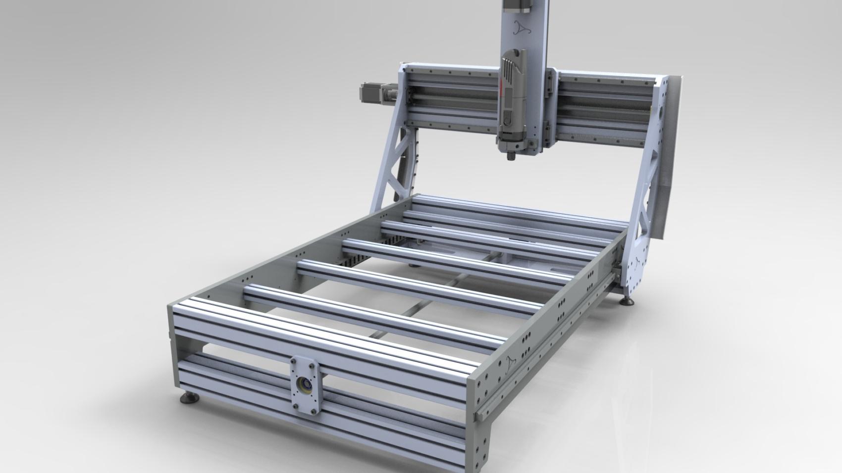Фрезер CNC 800х500 3D-модель