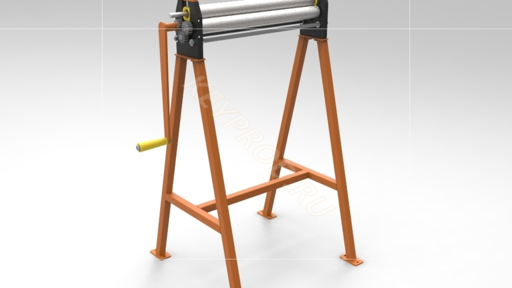 Вальцы 600 мм. 3D-модель и чертежи
