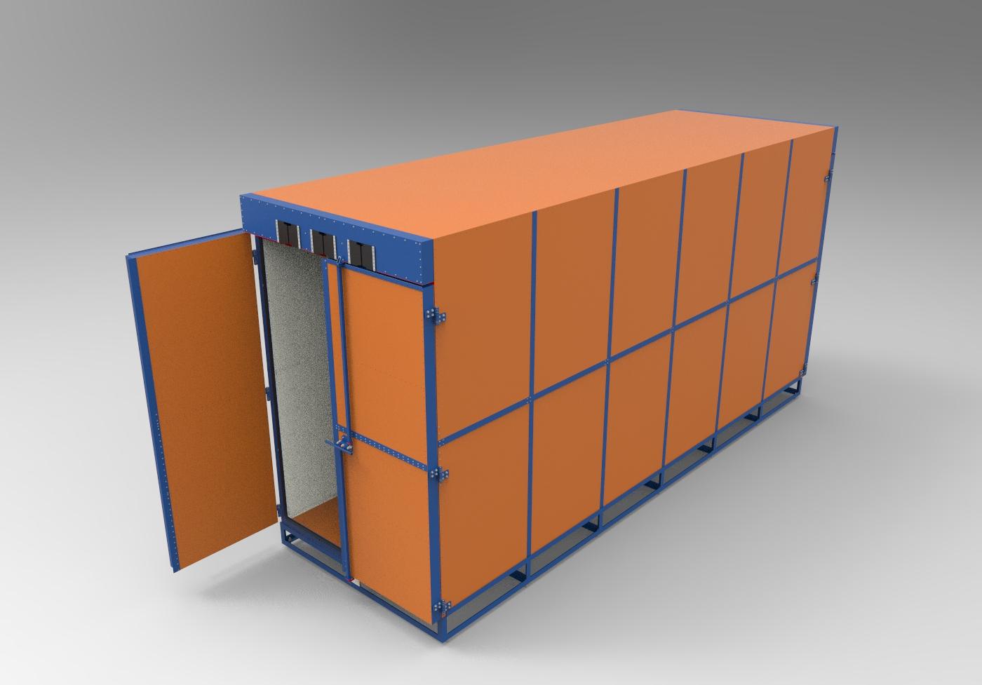 Камера полимеризации 3D-модель и чертежи