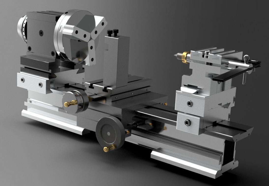 3D-модели и чертежи токарного и фрезерного оборудования
