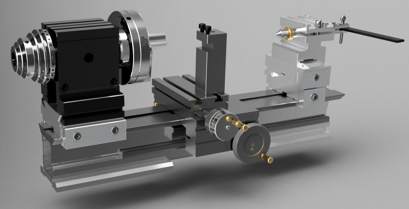 Настольный токарный станок по металлу taig micro lathe ii 3D-модель
