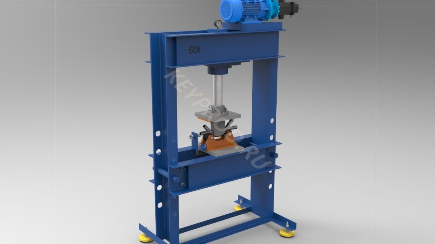 Приспособление для гибки трубки  3D-модель