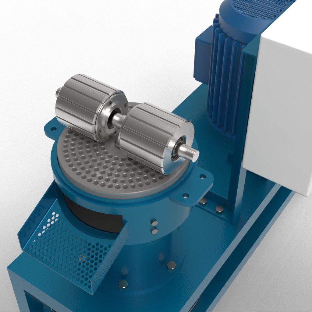Станок для производства пеллет 3D-модель