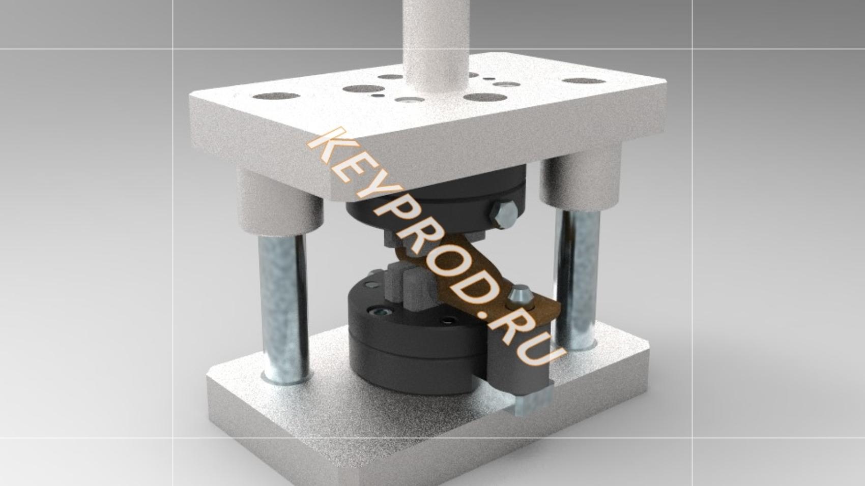Штамп для обжатия наконечника 3D-модель и чертежи