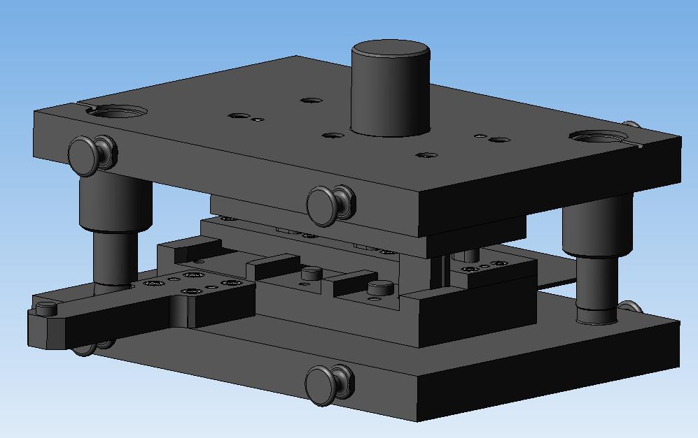 Штамп для пробивки отверстий 3D-модель