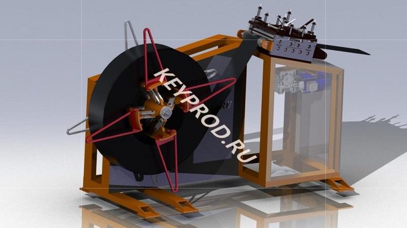 3D-модель-размотка-и-правка-полосы-1