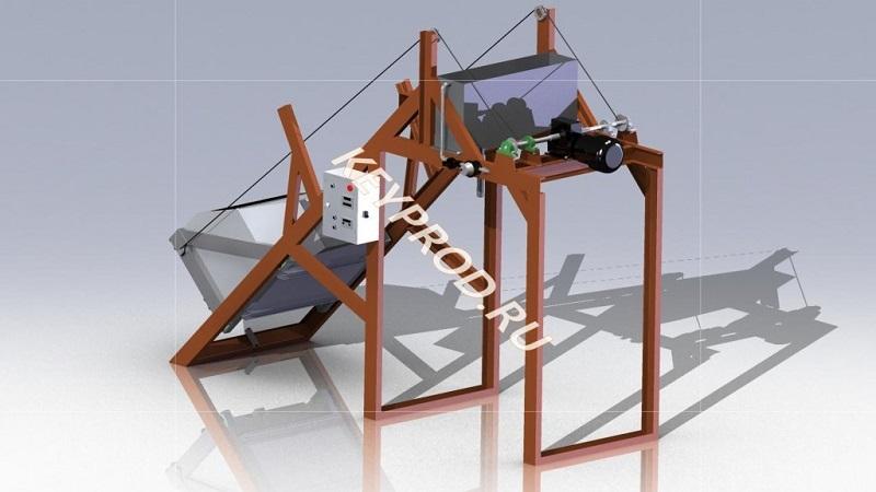 3D-модель-скипового-подъмника-1