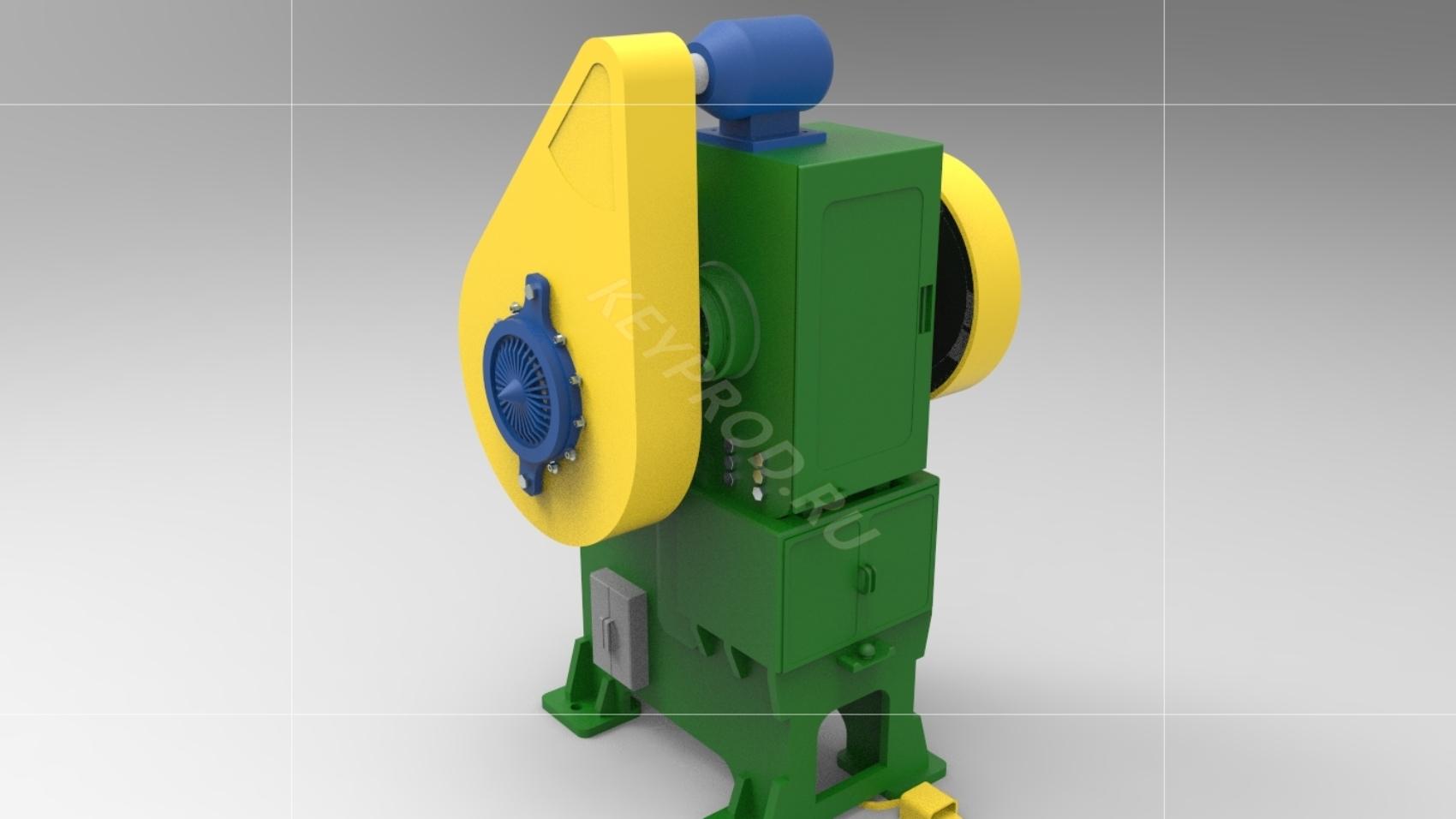 Пресс механический 80 тонн 3D-модель