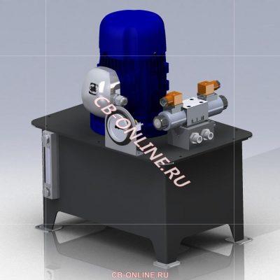 3D-модель гидравлика iges stp solid