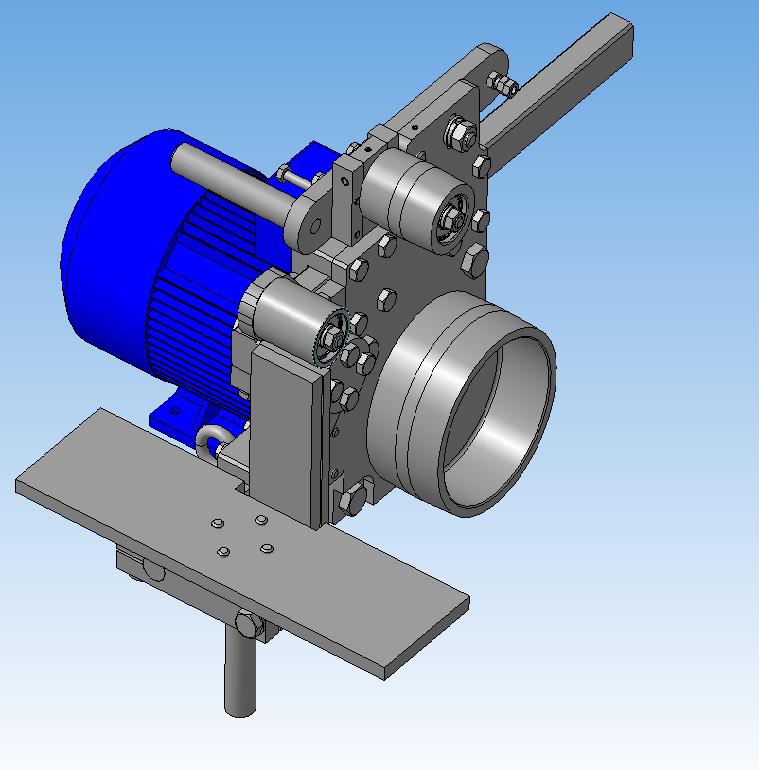3D-модель   Ленточный гриндер Г10  (Полная деталировка)