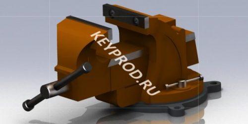 Тиски Т1:3D-модель и чертежи