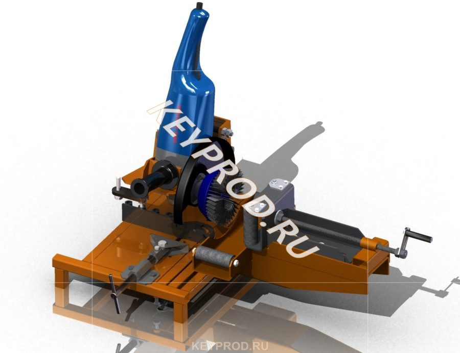3D-модель Приспособление для зачистки труб из УШМ своими руками