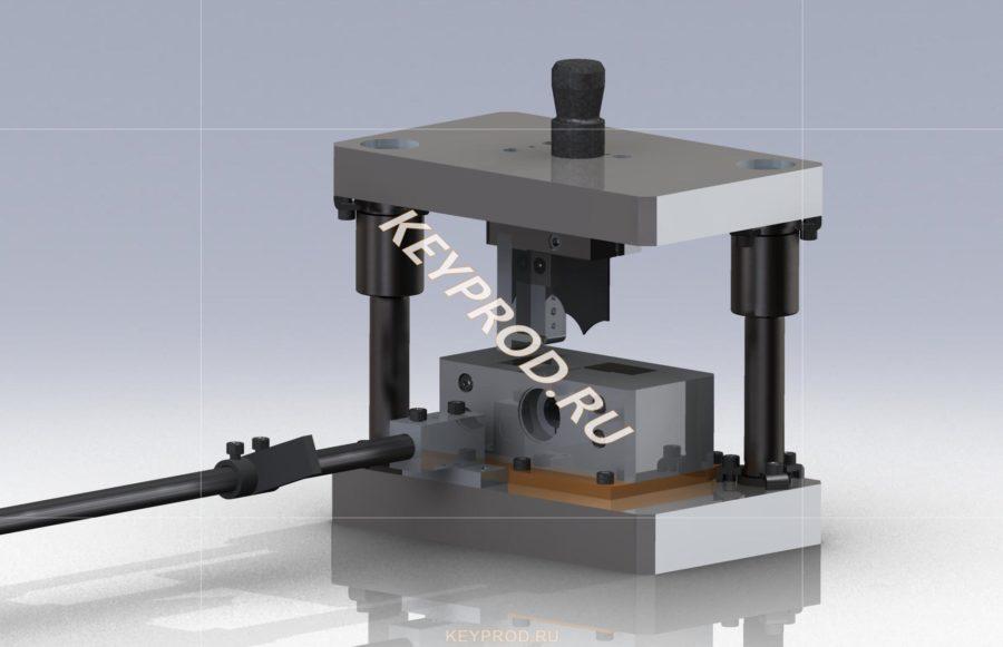 3D-модель ознакомительная Штампа для резки труб (диаметром 8-30 мм, и стенкой до 2 мм.)