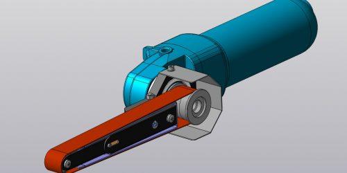 Гриндер из болгарки своими руками 3D-модель