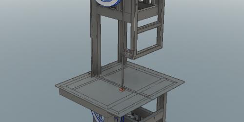 Пила ленточная 3D-модель