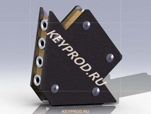 3D-модель магнитного угольника  №3