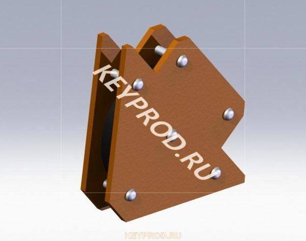 3D-модель магнитного угольника №2