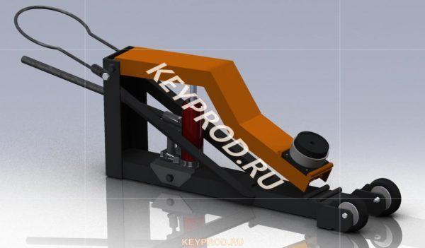 3D-модель домкрат подкатной гидравлический