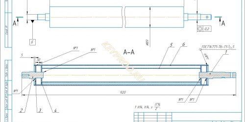 Скачать чертежи Вальцовочного станка (ролик приводной)