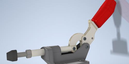 Зажим рычажный З05 3D-модель
