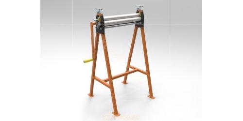 Ручные вальцы 600 мм. 3D-модель и чертежи
