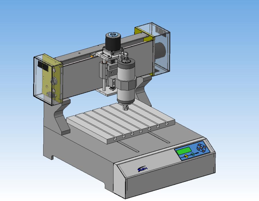 3D-модель Гравировальный-фрезерный станок с ЧПУ SUDA SD-3025 (компас)