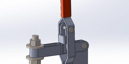 Зажим рычажный З04 - 3D-модель