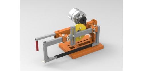 Пила маятниковая по металлу 3D-модель